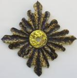 AURUM - Châtaigner polychromé et bronze à cire perdue - 70 * 70 cm - Diagonale 95 cm