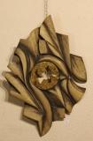 IMPLOSION - Châtaigner polychromé et bronze à cire perdue - 95 * 65 cm