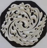 L'AUBE - Châtaigner - céruse blanche 95 * 95 * 8 cm - 2011