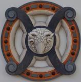 ERIPHOS - Polychrome sur bois de châtaigner