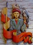 L'ETENDARD - Polychrome sur bois de châtaigner - 85 * 65 cm - 2013
