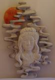 MEDITATION - Céruse blanche & acrylique sur bois de châtaigner - 80 * 50 cm - 2014