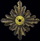 AURUM - Bronze à cire perdue en incrustation sur bois de châtaigner