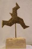 QUO VADIS - Bronze à cire perdue sur socle en calcaire
