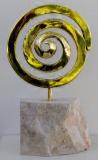 Collection privée - VORTEX - 37 cm Bronze à la cire perdue et marbre - Année 2017