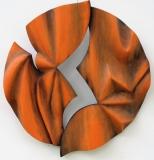 ORANGE FROISSEE - Polychrome sur bois de châtaigner
