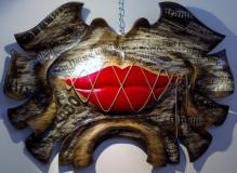Collection Privé - CHUT !!! - Polychrome et collage sur bois de châtaigner - 65 * 47 cm - 2014