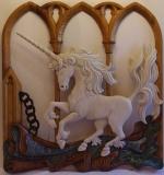 Collection privée - ENFIN LIBRE - Polychrome & céruse sur bois de châtaigner - 98 * 103 * 8 cm - Coupe de la Ville de Talence 2013 - SATA