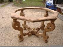 Table support en chêne du 17ème siècle en chêne du 17ème siècle pour un Globe de Coronelli