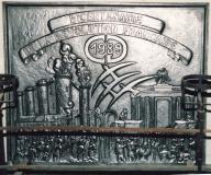 Plaque de cheminée commémorative bi-centenaire de la Révolution 1789 / 1989