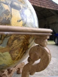 Détail d'une cariatide - Table support d'un Globe de Coronelli