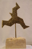 QUO VADIS- Bronze à la cire perdue - Socle pierre calcaire - Année 2018